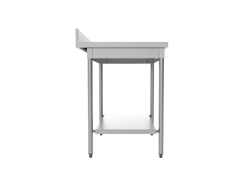 Sofinor Table inox à dosseret + Étagère basse