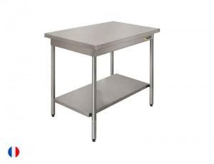 Sofinor Table centrale inox + Étagère basse