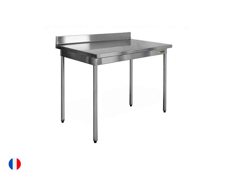 Sofinor Table inox à dosseret