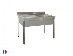 Sofinor table plonge avec cache cuve (largeur 600mm)