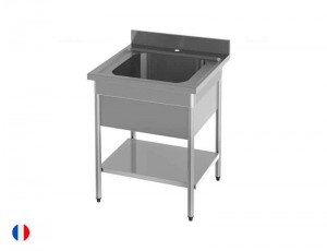 Sofinor table plonge avec cache cuve (largeur 700mm)