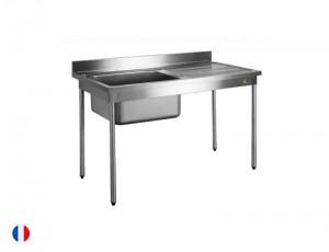 Sofinor table plonge sans cache cuve (largeur 600mm)